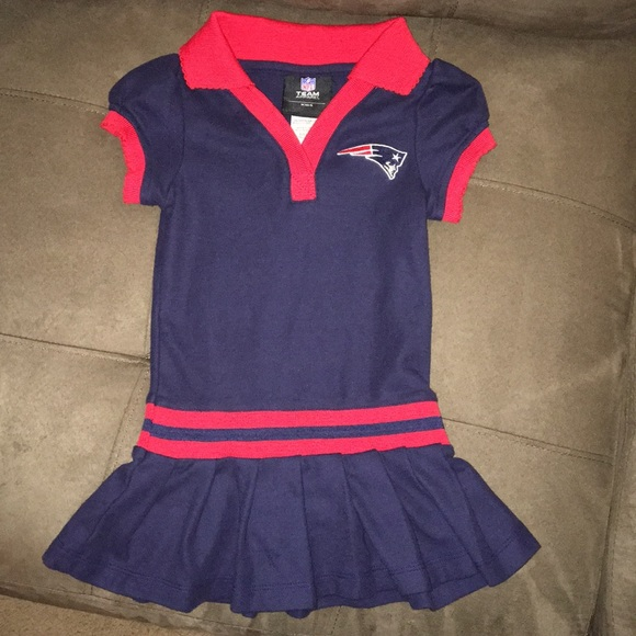 size 40 25172 27267 NFL kids baby girl New England Patriots dress